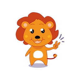 Rocky The Little Lion stickers by Ronnie Hoekstra