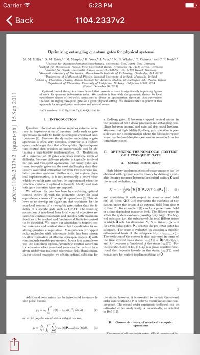 Arx - the arXiv reader Screenshots