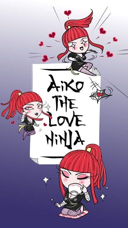Aiko the Love Ninja stickers