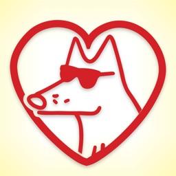 Teddy the Dog: Yappy Valentine's Day Stickers