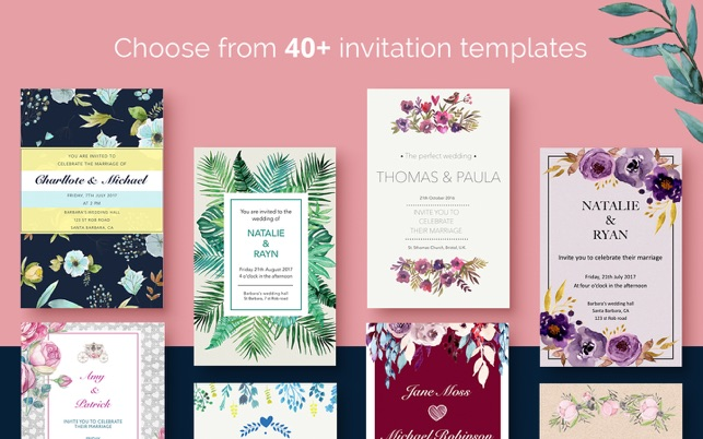 Wedding invitations 40 templates for pages on the mac app store stopboris Choice Image