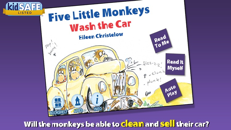 Five Little Monkeys Wash the Car screenshot-0