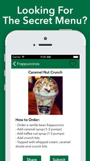 Secret Menu For Starbucks On The App Store
