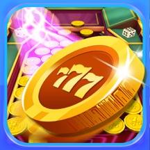 大赌场硬币推杆 - 硬币推土机游戏