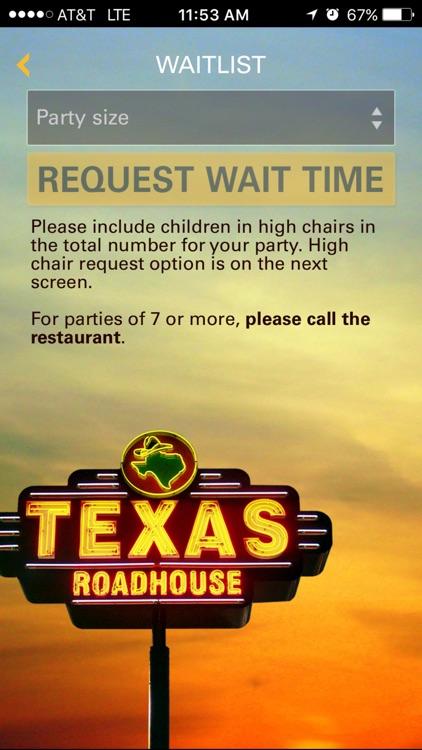 Texas Roadhouse Mobile screenshot-3