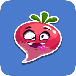Animated Cute Turnip Stickers for Messaging