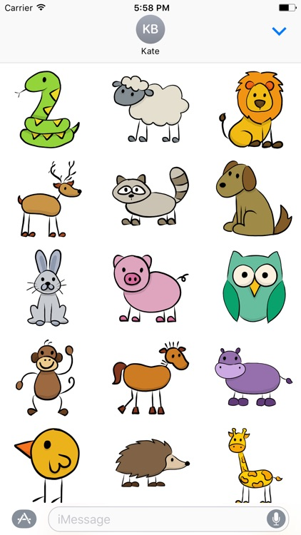 Doodle Zoo - Charming Funny Animal Doodle Stickers