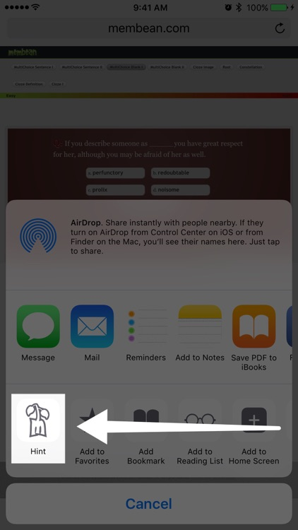 Membean Hint screenshot-3