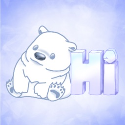 Poe Bear Winter Stickers for Text Messages