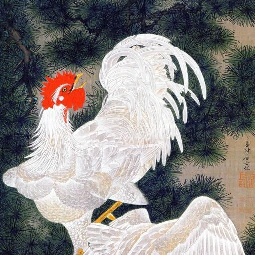 Ito Jakuchu Artworks Stickers