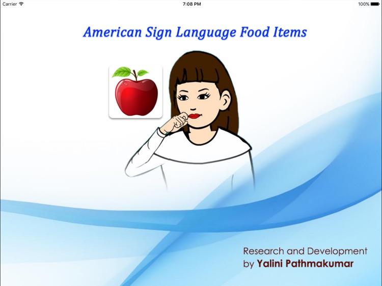 American Sign Language Food Items screenshot-3