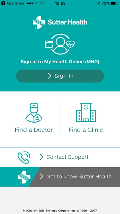 Sutter Health My Health Online screenshot-0