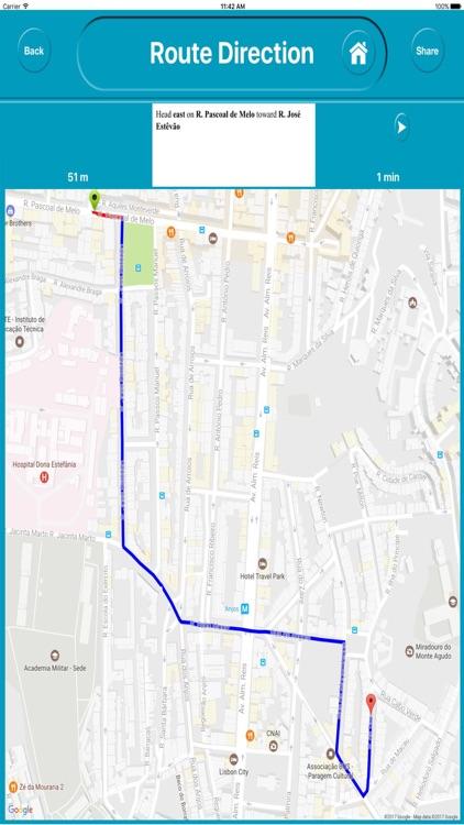 Lisbon Portugal City Offline Map Navigation EGATE screenshot-4