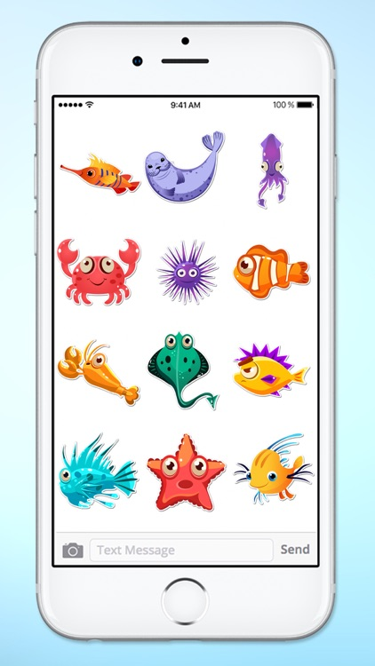 Funny Fish and Sea Life Sticker Pack screenshot-3