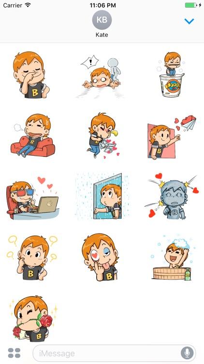 Jack The Cute Boy In Love Sticker