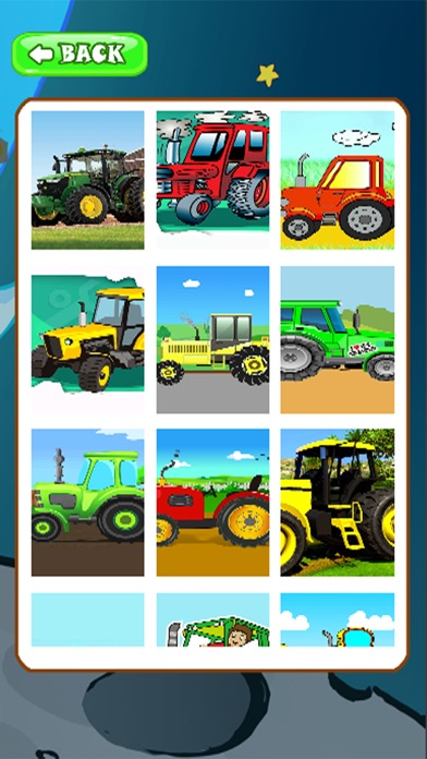 Jigsaw For Kids Games Page Monster Tractor app image