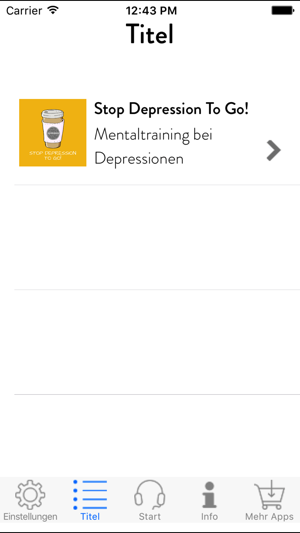 Stop Depression To Go Mentaltraining On The App Store