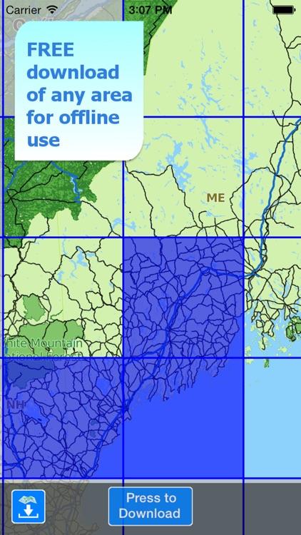 Aqua Map Maine ME Lakes HD - GPS Nautical Charts screenshot-4