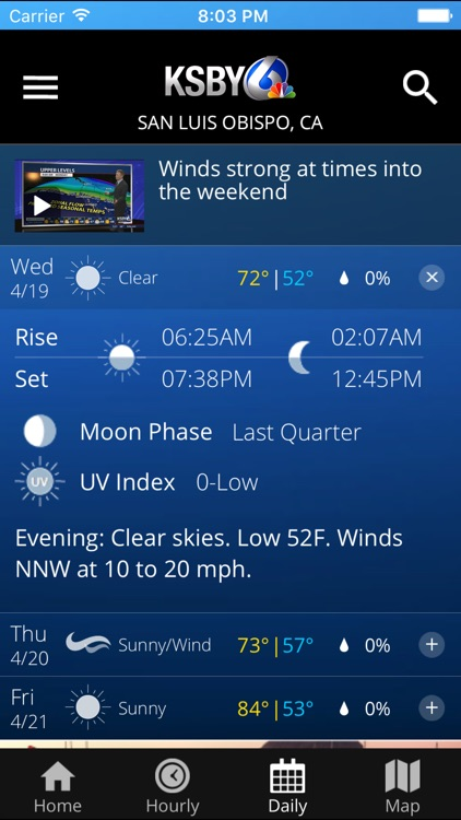 KSBY Microclimate Weather Forecast screenshot-3