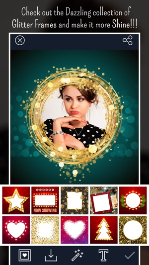 Glitter Photo Frames - Image Editor on the App Store