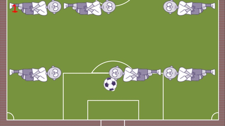 The way to the goal-The football game dribble ball