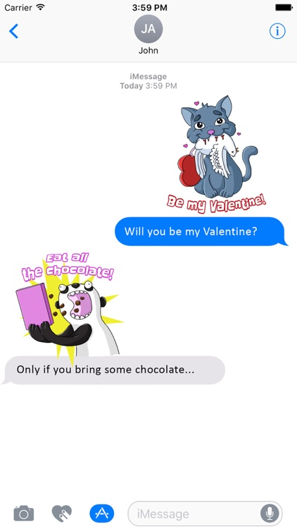 I Love You - Valentine's Day Stickers