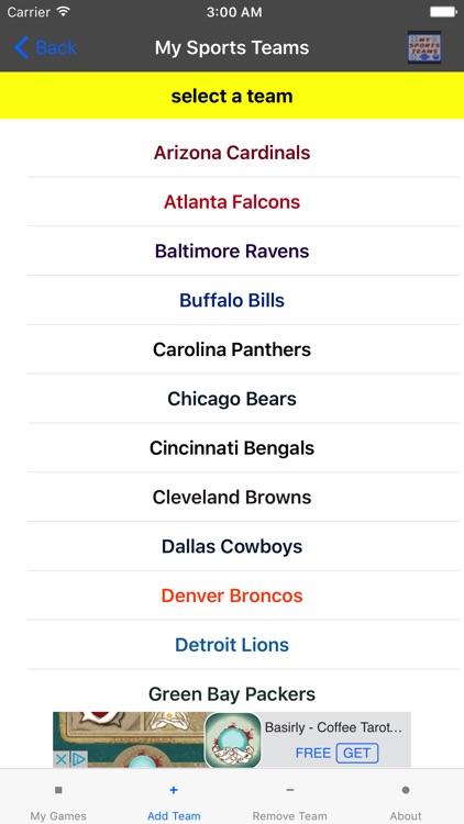 My Sports Teams screenshot-3