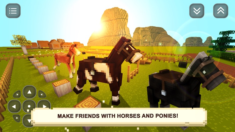 My Blocky Horse Racing: Animal Care Game for Girls