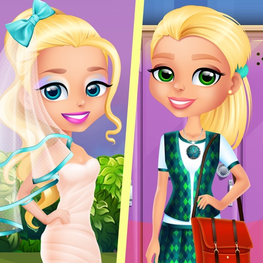 Ava Grows Up - Makeup, Makeover, Dressup Girl Game