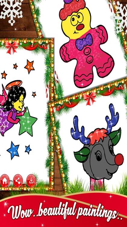 Kids Christmas Coloring Book - Free Kids game screenshot-3