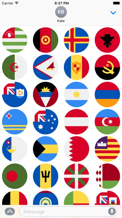 Flags Stickers -New Emoji for Texting in iMessage screenshot-4