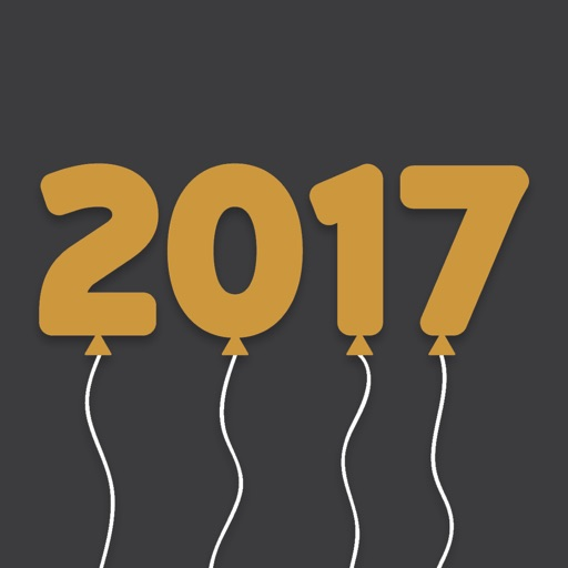 New Year 2017 Stickers