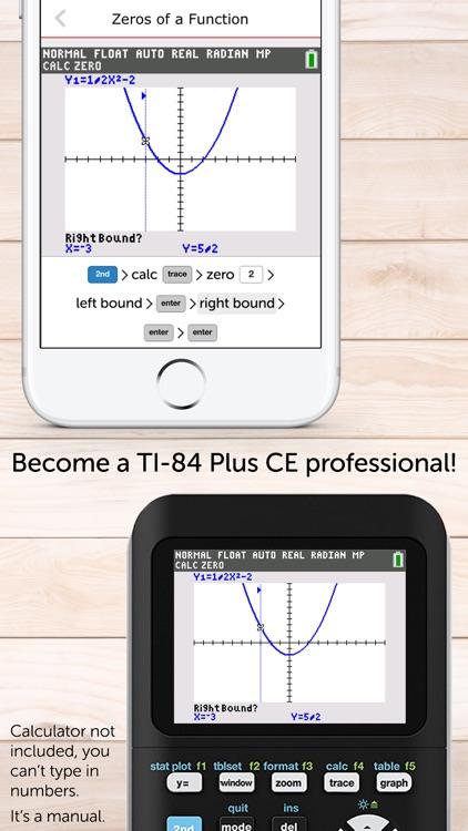 TI-84 Graphing Calculator Manual TI84 Plus CE