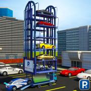 多层停车场起重机驾驶模拟器3D - Smart Car Parking Crane Operator