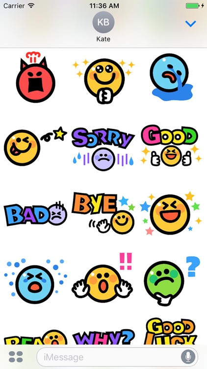 Smiley face Sticker 1