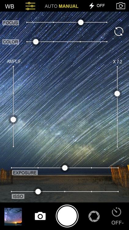 Night Vision-Manual Camera Pro. Slow shutter screenshot-3