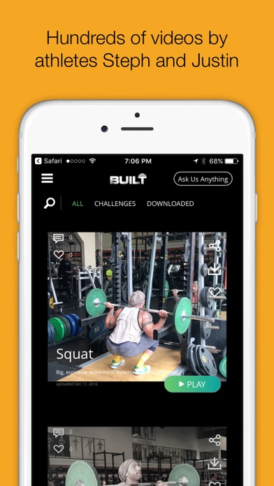 IAMBUILT - training workout challenges & more screenshot one