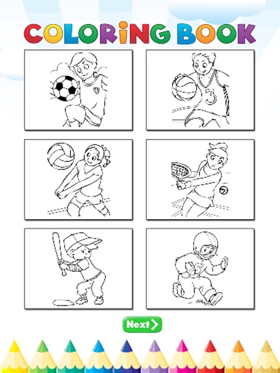 sports activities coloring pages - photo#15