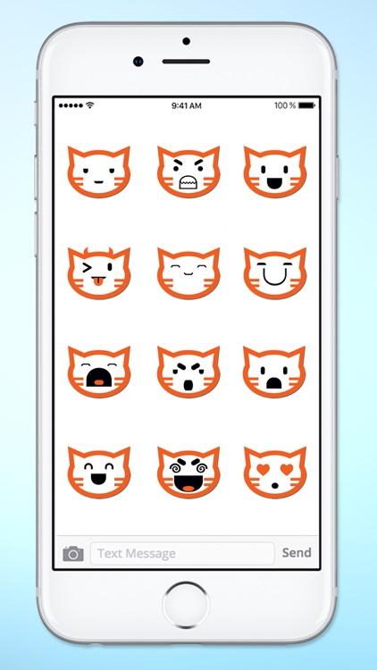 Cat Faces Emoticons Sticker Pack screenshot-4