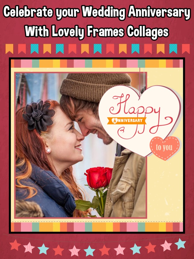 wedding anniversary photo frames collage maker on the app store