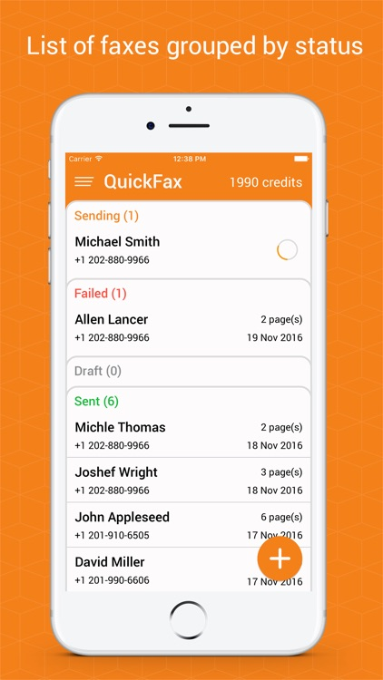 QuickFax: send fax from phone screenshot-1