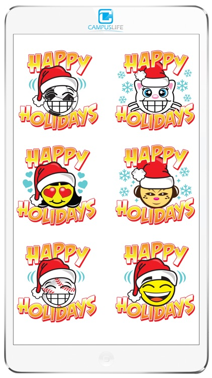 Happy Holidays Sticker Pack