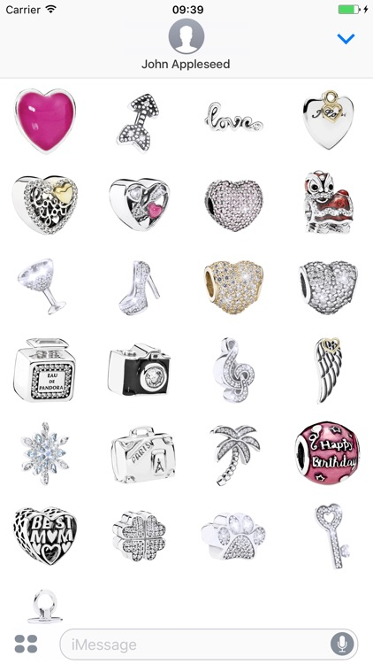 Pandora Jewellery Stickers