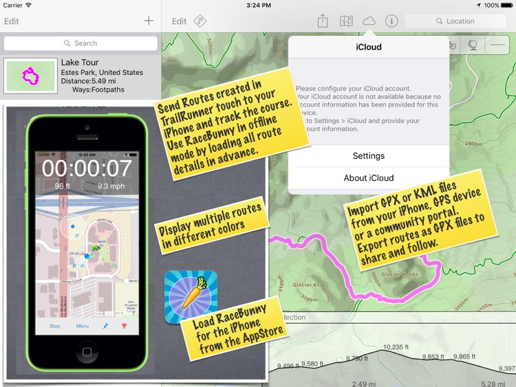 TrailRunner touch — GPS trails