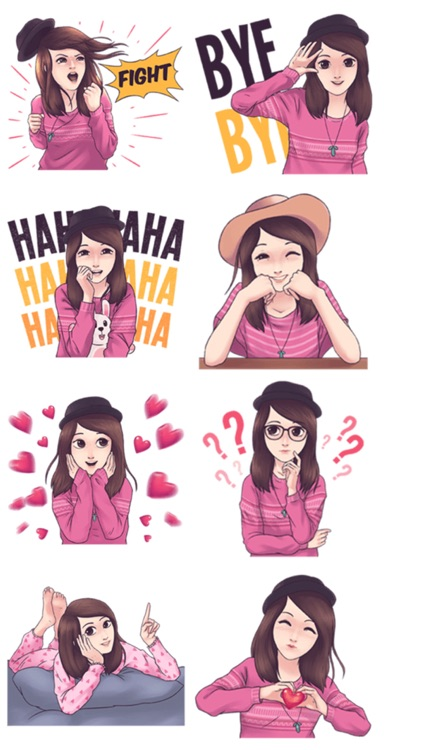 Cool Girl : Love Stickers