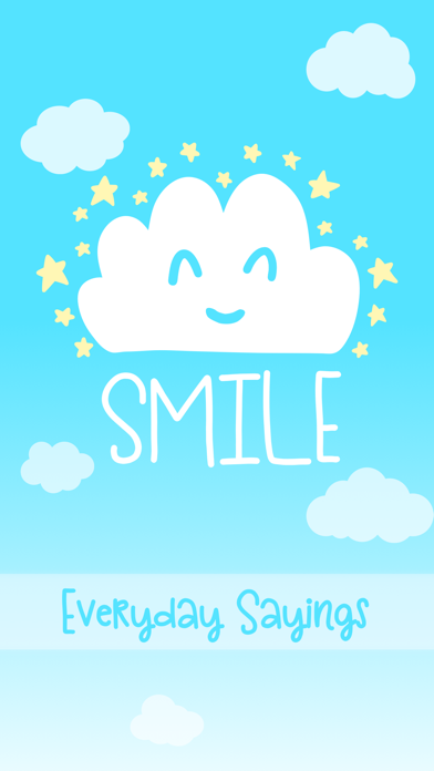 Smile - Sweet Everyday Saying Stickers screenshot one