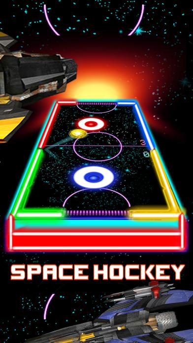 Glow Hockey HD - 2 Player Neon Light Air Hockey screenshot two