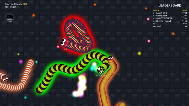 Rolling Worm.io - The Slither Snake War On Paper screenshot-3