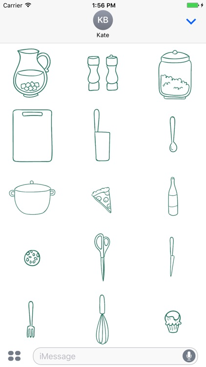 Animated Cute Kitchen Stickers screenshot-1