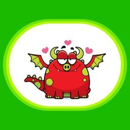 Dramoji - cute dragon stickers pack